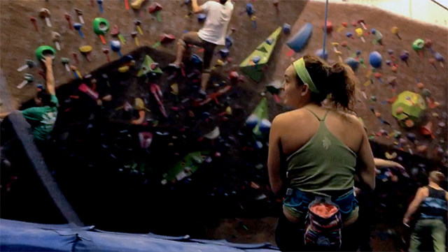 Jeanne Eisenhaure Climbing