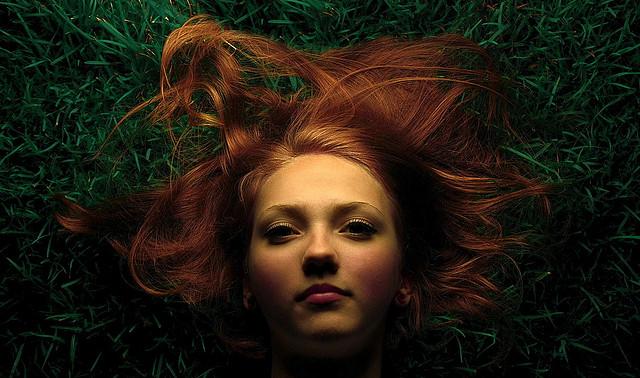 girl green grass