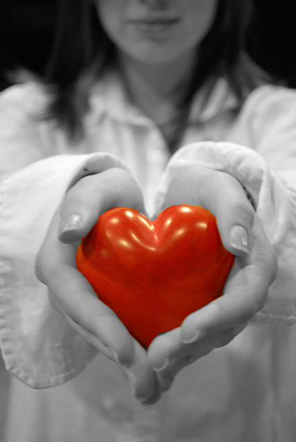 hold heart in hands