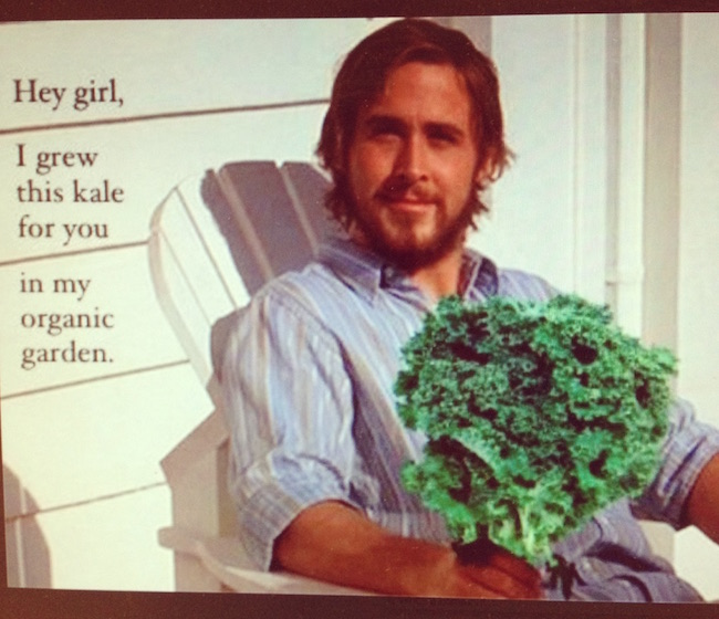 ryan gosling, kale, health, love