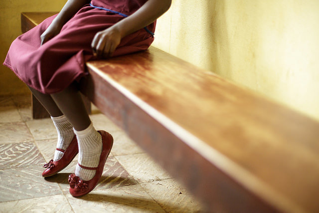 girl on bench, female genital mutilation