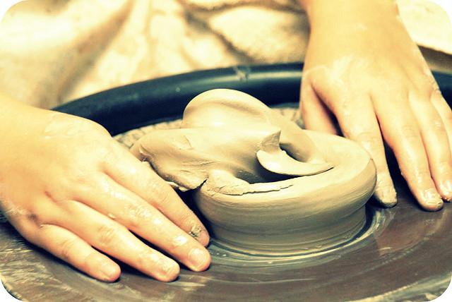 pottery, sculpture, hands