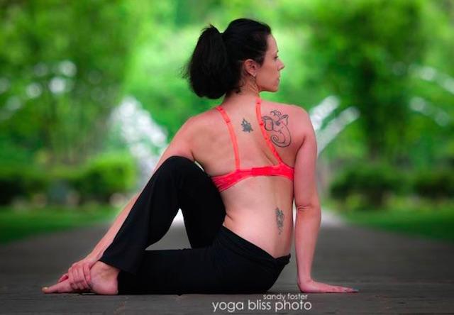 badass woman yoga