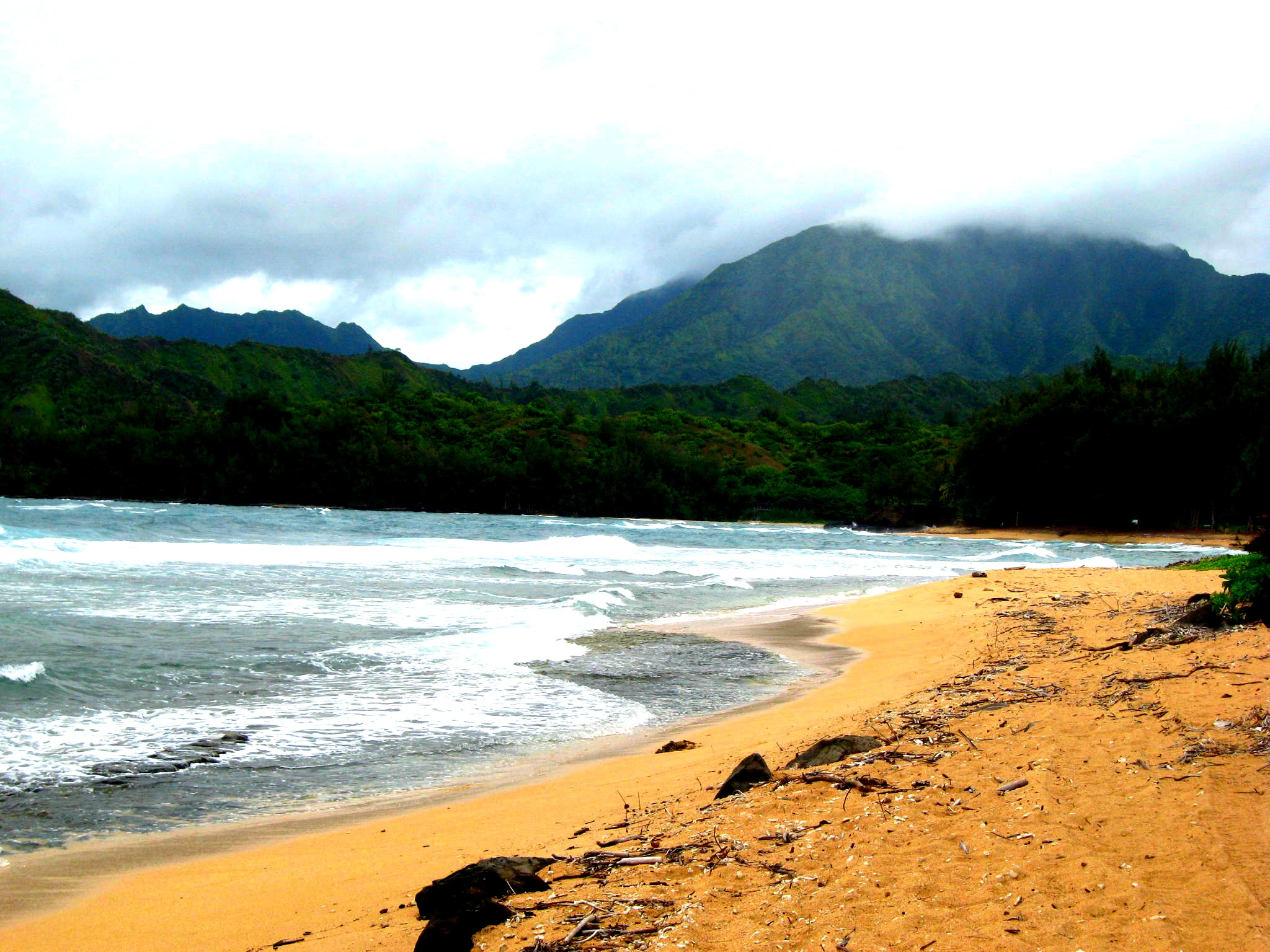 beach, boosted colour