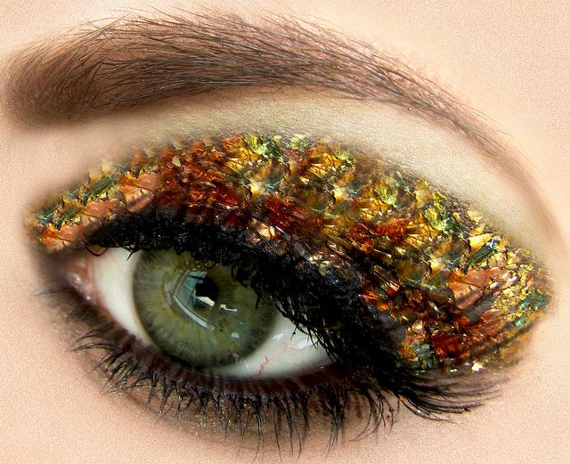 eye, gold, beauty