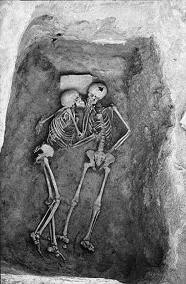 skeletons, kissing, love