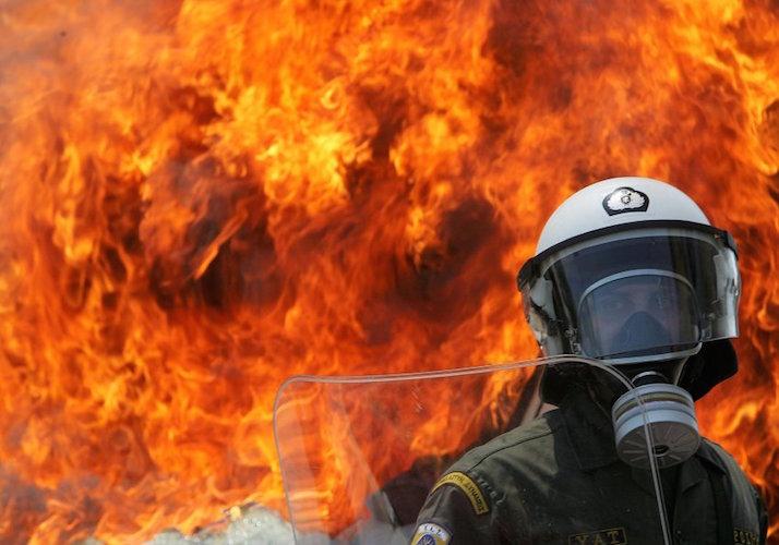 Maidemonstration in Athen - Zusammenstˆfle mit der Polizei