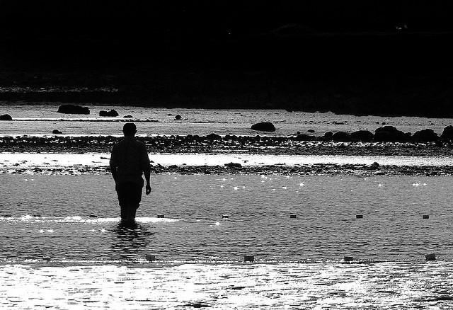 solitude, man walking, grief, sadness