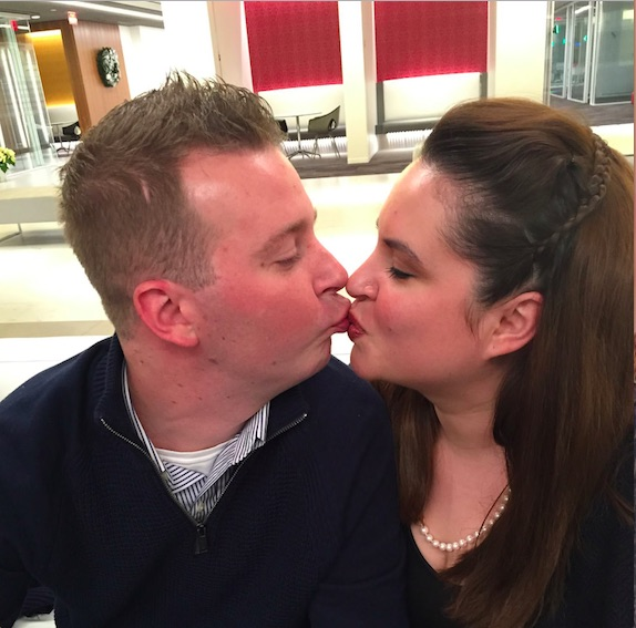 Kiss husband