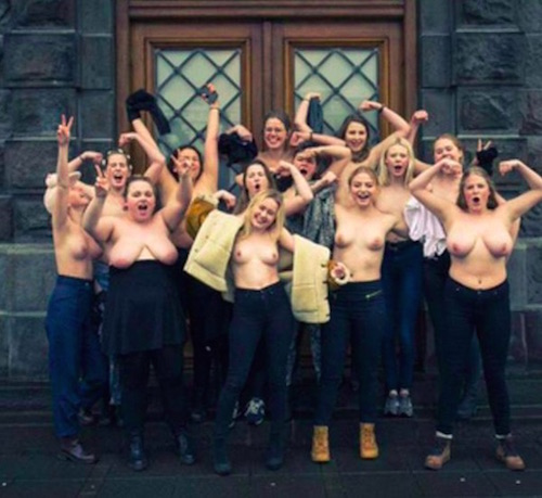 men playing with womens naked nipples