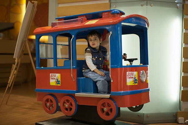 mall train little boy