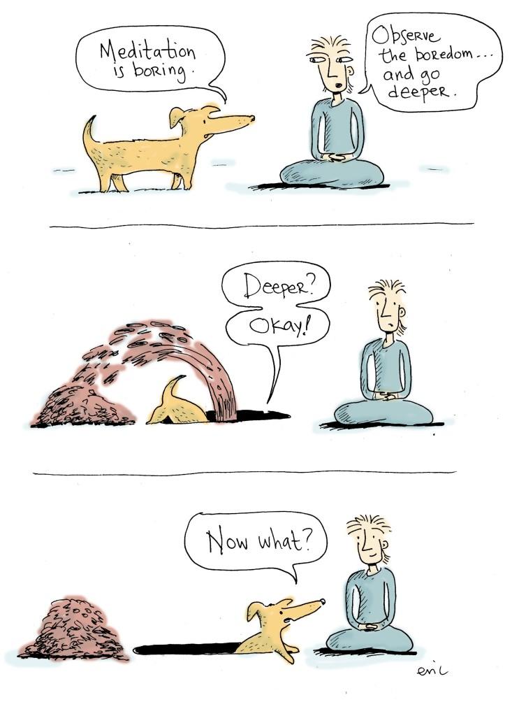 Meditation is boring.