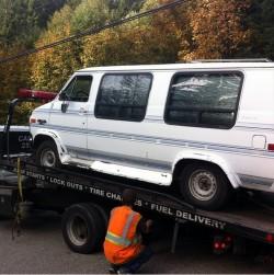 van towed