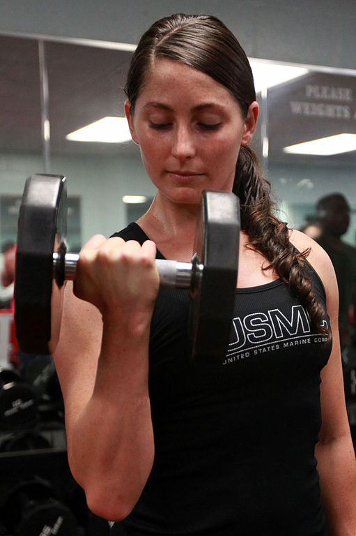 weight lift woman