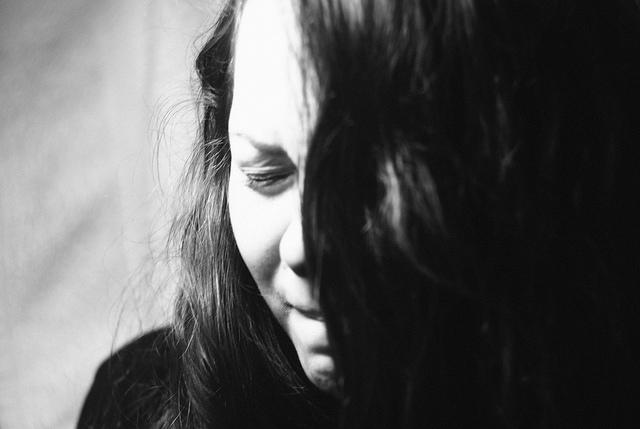woman crying upset