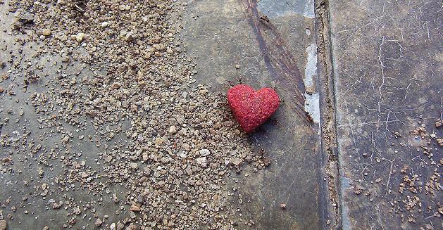 heart, sidewalk