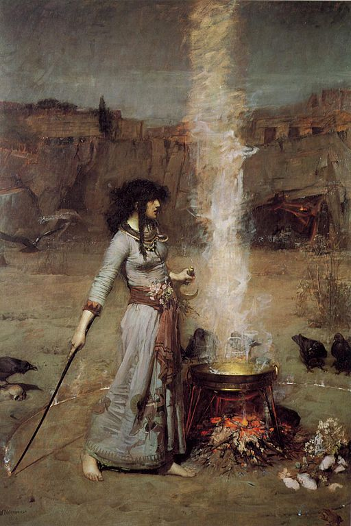 Waterhouse_-_Magic_Circle witch wild woman