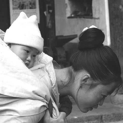 China, daughter, mother