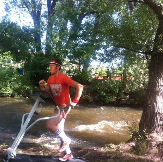 Waylon Lewis running Boulder funny