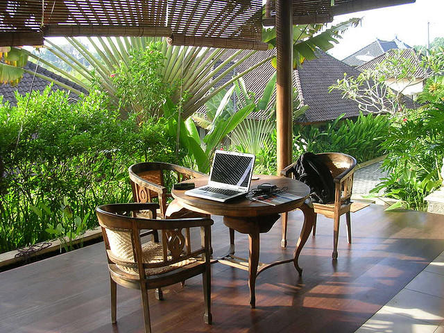 bali outdoor office