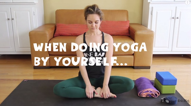 doing yoga by yourself