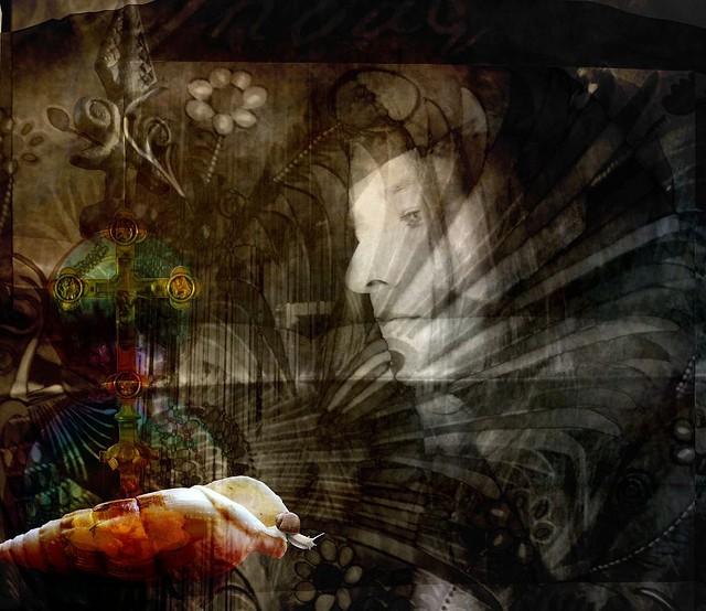 woman face abstract nature spiritual