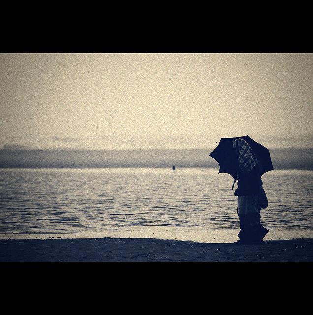 beach rain umbrella