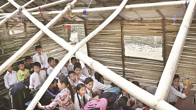 Nepal temporary classrooms