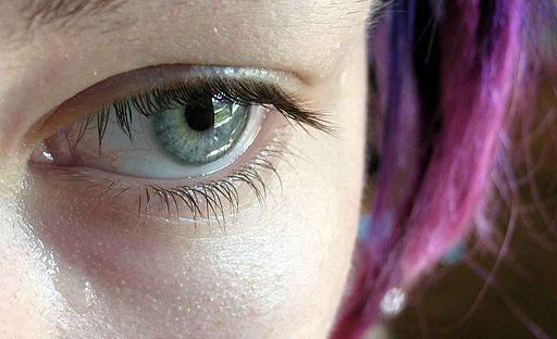 cry tear sad girl eye