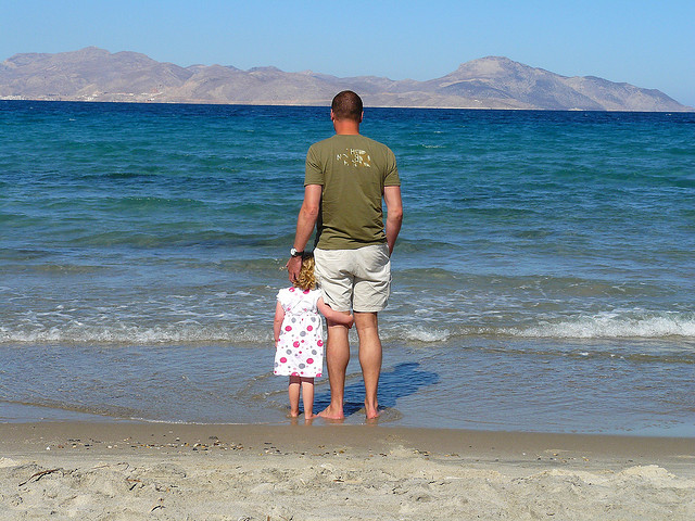 dad daughter introvert nature quiet water summer