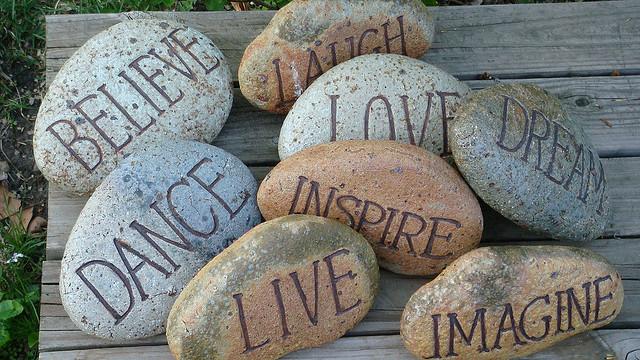 words stones