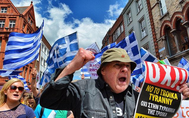 Greek austerity march