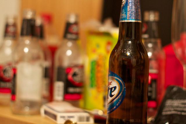 beer bottles, drunk