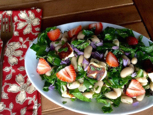Summer Strawberry & Halloumi Salad