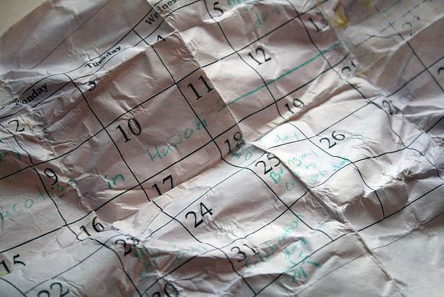 calendar planning schedule structure