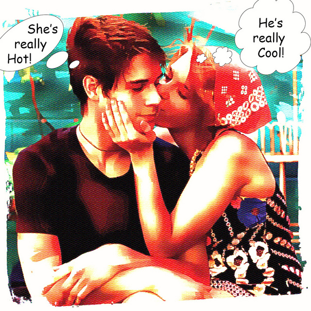 couple hot cool comic