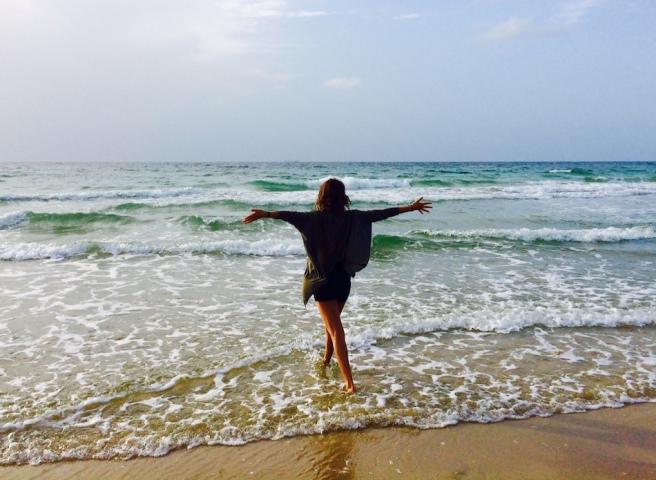 embracing ocean