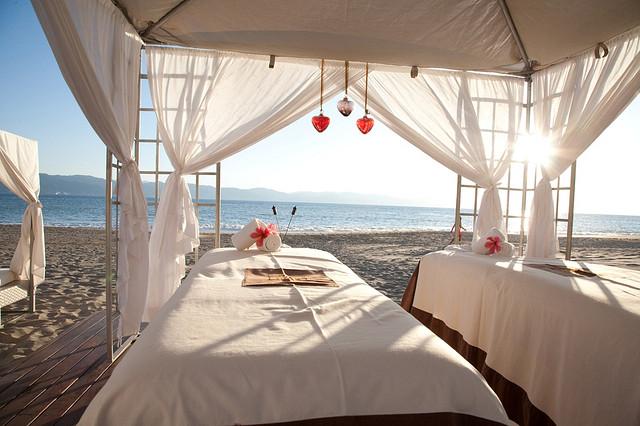 spa vacation retreat relax beach