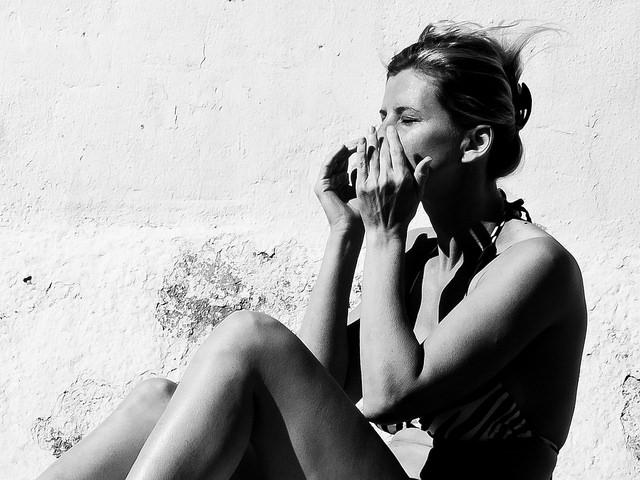 woman sun sunscreen face skin protection
