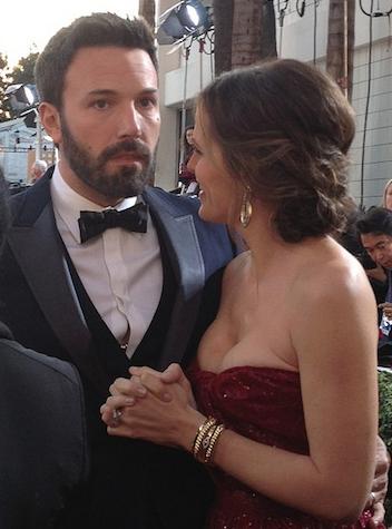 Ben Affleck and Jennifer Garner Goldenglobes2013