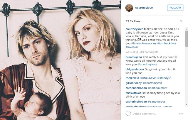 Screenshot, @CourtneyLove on Instagram