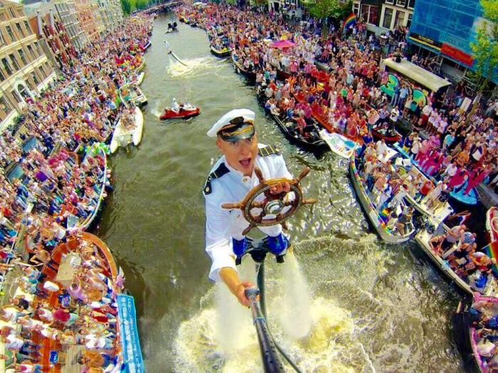 Possibly the best selfie ever Gay Pride Canal Parade 2015 Amsterdam - Imgur