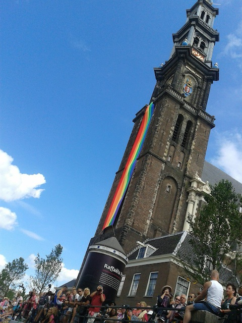 Westerkerk Canal Parade Gay Pride Amsterdam 2013