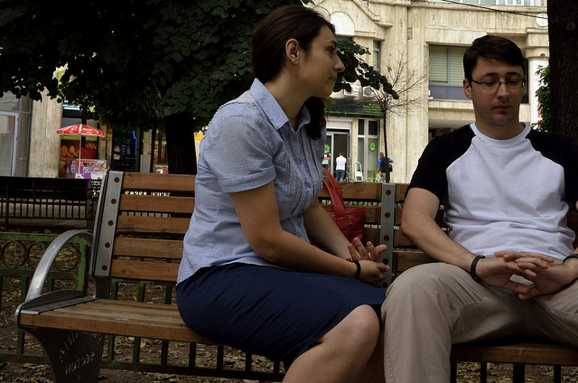 couple argument fight break up talk love