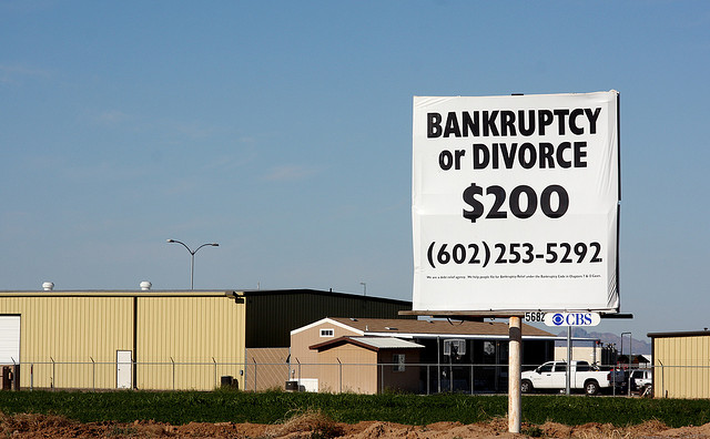 divorce break up bankruptcy