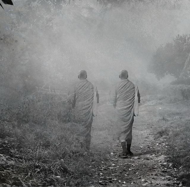 two walking friends buddha zen comparison jealousy