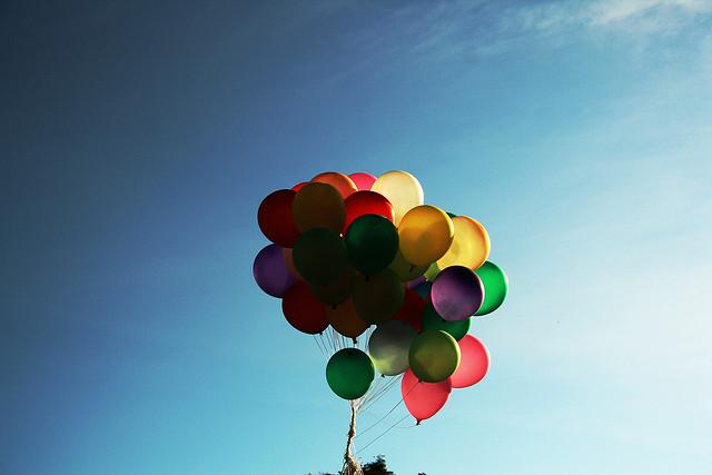 let go balloons