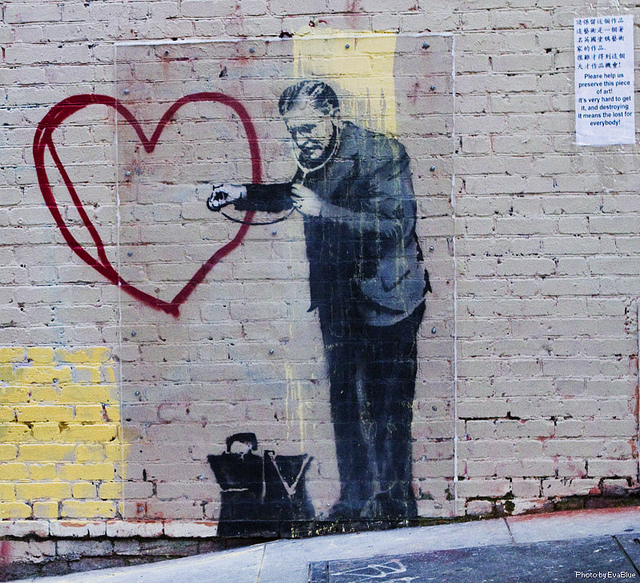 banksy love heart