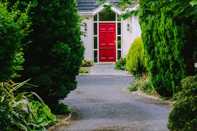 front door driveway house home