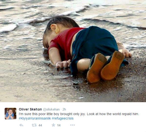syrian boy tweet